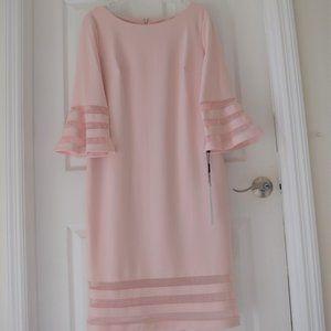 Calvin Klein Illusion-Trim Sheath Dress Size 14